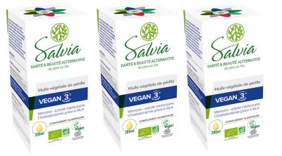 Vegan 3 Perilla en frasco, 3 productos